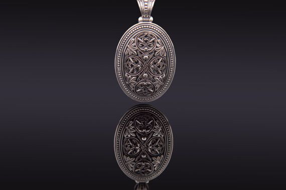 Handmade Sterling Silver 925 Byzantine Style Pedant, Beatrice by ExclusiveSilverArt on Etsy