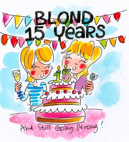 Blond 15 jaar!