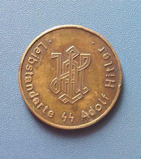 WAFFEN SS LEIBSTANDARTE SS ADOLF HITLER LSSAH MEDAL COIN TOKEN GERMAN WW2 PRICE $499