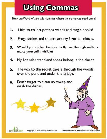 108 best images about Comma Rules on Pinterest | Anchor charts ...