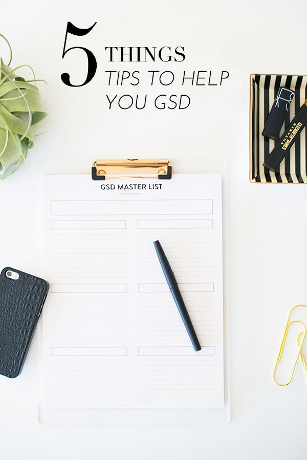 5 tips to help you be more productive! | theglitterguide.com