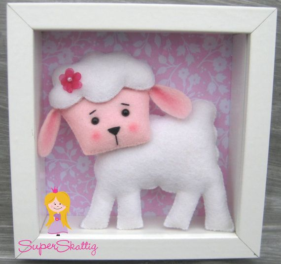 Felt pattern The Farm Animals softie pattern plush by SuperSkattig