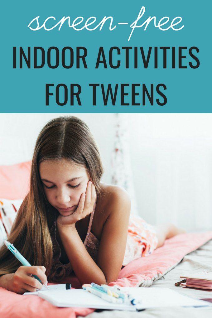 Indoor Activities For Tweens Indoor Activities For Kids Fun
