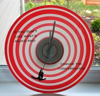 Mad Men Falling Man Clock-  Mod Podge Rocks  #madmen #craft #clock