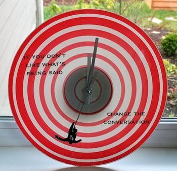 Mad Men clock #craft: Quotes Clocks, Diy Clocks, Crafts Ideas, Fall Men, Men Clocks, Men Fall, Mad Men, Wall Clocks, Men Quotes