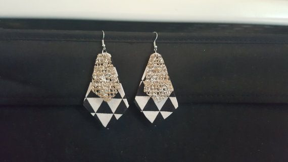 Check out this item in my Etsy shop https://www.etsy.com/au/listing/489456784/geometric-fabric-earring