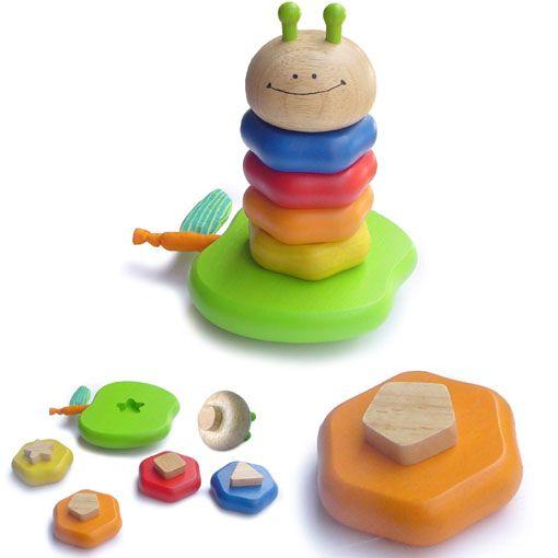I'm Toy witty worm puzzel / stapelfiguur.
