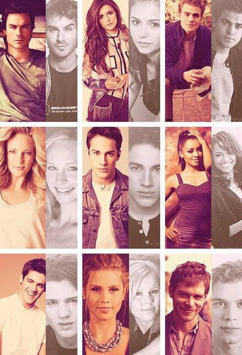 Elena, Caroline, Bonnie, Jeremy, Tyler, Damon, Stephan, Klaus