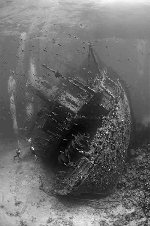 Incredible underwater shipwreck