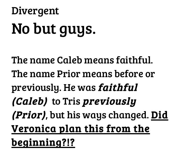 VERONICA PLANNED IT FROM THE VERY BEGINNING!!! SHE WANTED CALEB TO BETRAY TRIS!!!