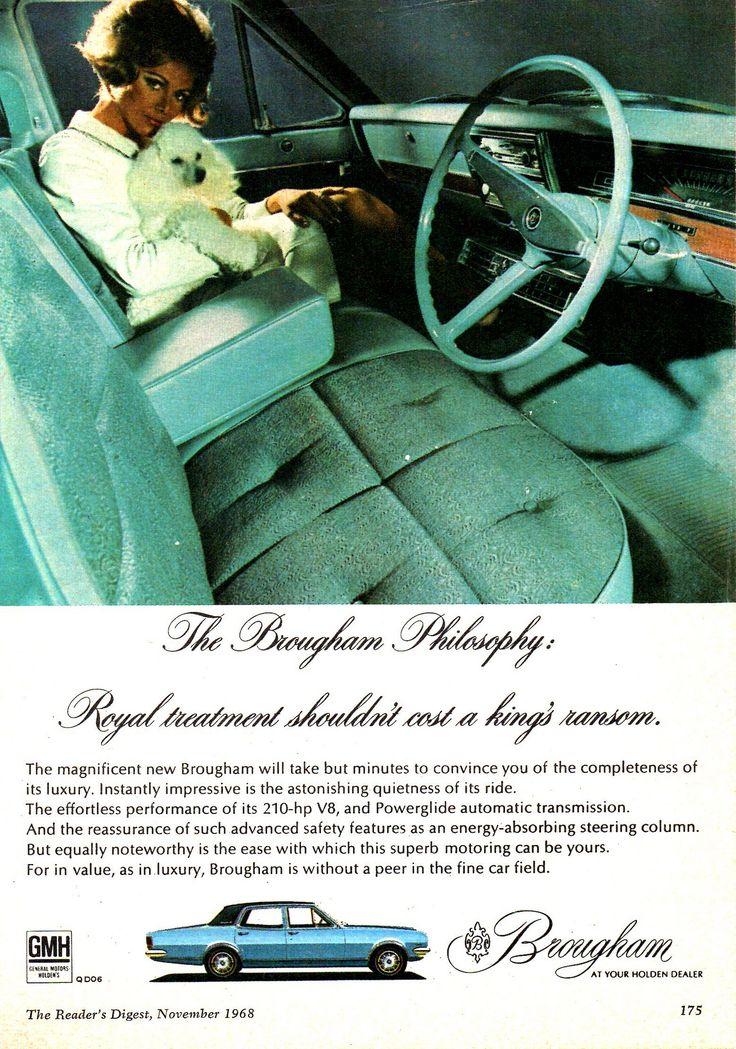 https://flic.kr/p/xfFyc6 | '68 HK Brougham By Holden Aussie Original Magazine Advertisement