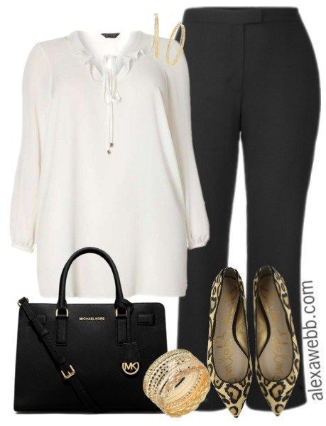 Plus Size Work Outfit - Plus Size Fashion for Women - alexawebb.com