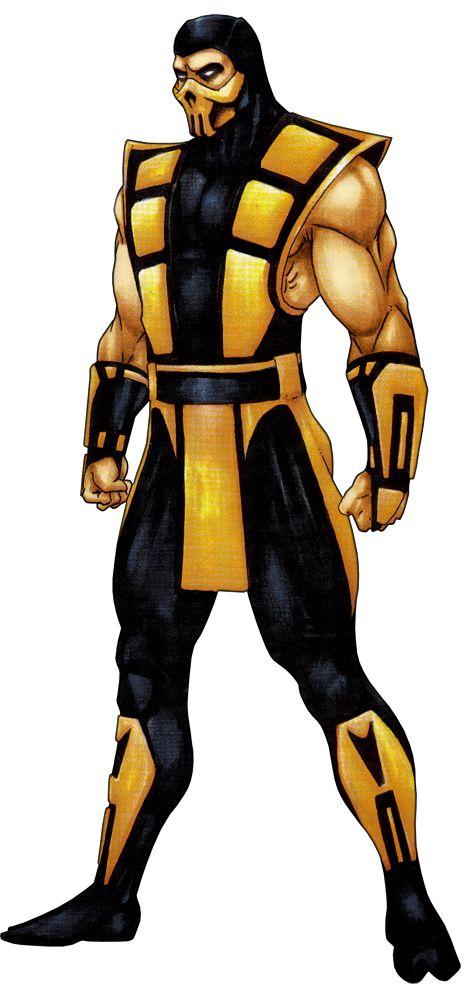 Scorpion-Ultimate-Mortal-Kombat-3-Official-Art