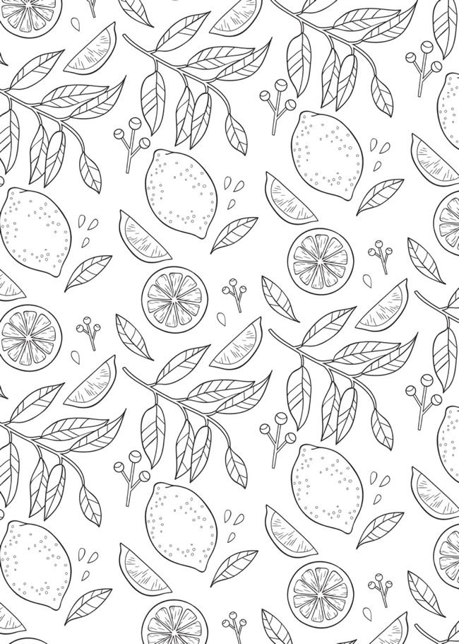 Welcome To Dover Publications Bliss Nature Flower Crown Drawing Fruit Coloring Pages Summer Coloring Pages