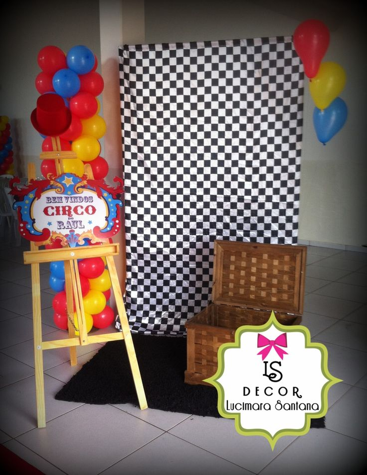 Decora o festa circo festa circo raul pinterest for Carrelage 7 5 x 15