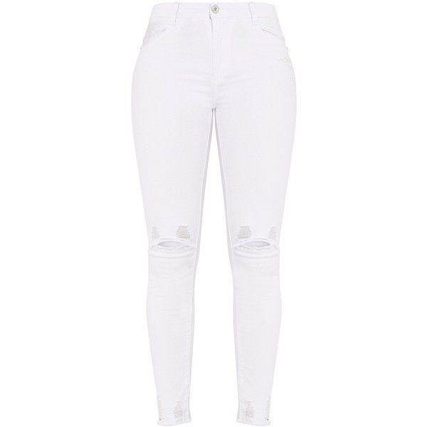 17 Best ideas about White Ripped Jeans on Pinterest | White ripped