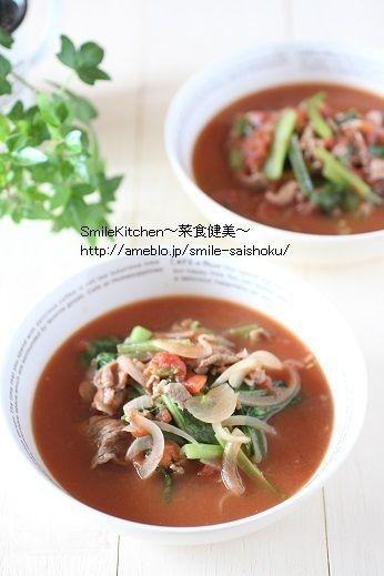 コラム【 美味しい貧血予防レシピ!「小松菜と牛肉のトマトスープ」の ...