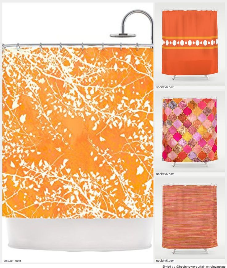 17 best images about tangerine shower curtain tangerine for Tangerine bathroom ideas