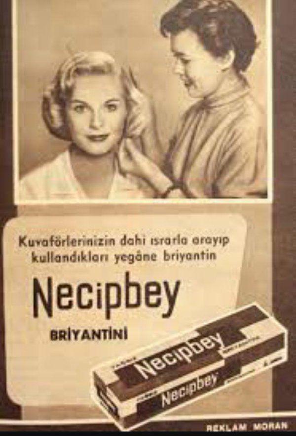 Necipbey Briyantini (1950'ler) #eskireklamlar #istanbul #istanlook #nostalji