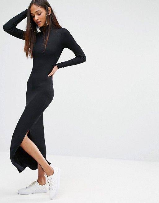 Noisy May Tall | Noisy May Tall High Neck Maxi Sweater Dress
