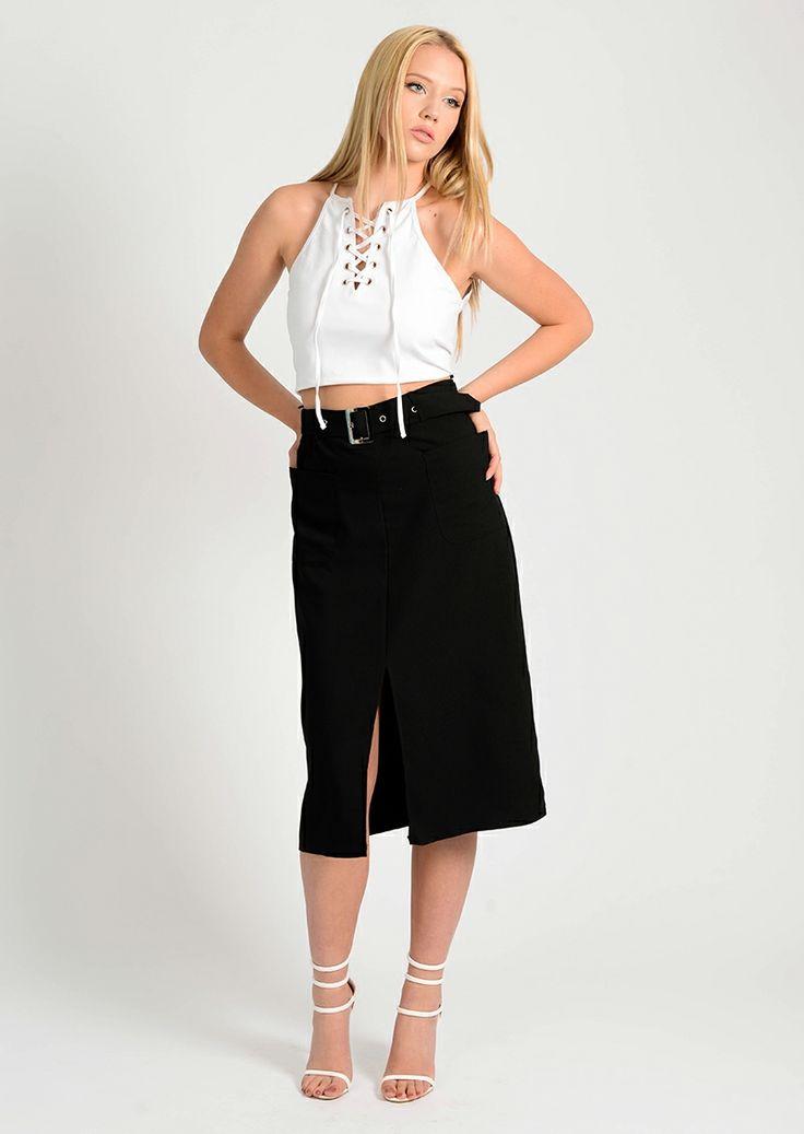 Skirt-Black-belted