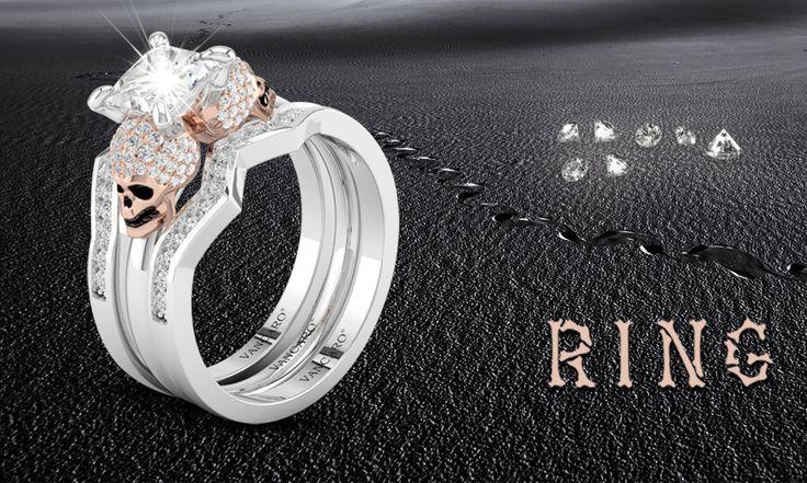 Best 25 Skull wedding ring ideas only on Pinterest