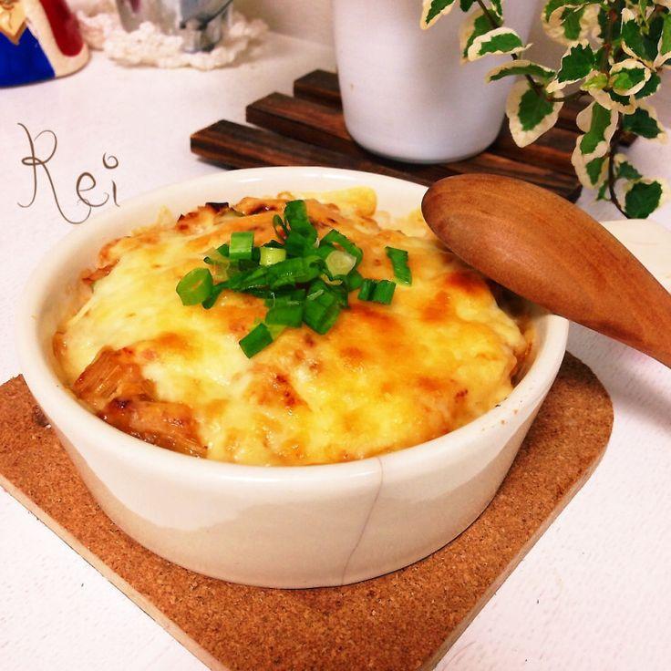 試してほしい♡里芋とお豆腐の和風ネギ味噌グラタン♡