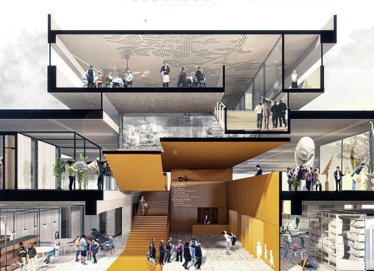 Die Gewinner des YAC Space to Culture schlagen Ideen für ein neues Kulturzentrum in Bologna, Italien, vor
