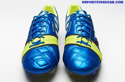 Adidas Nitrochargue 1.0 azul blanca amarilla