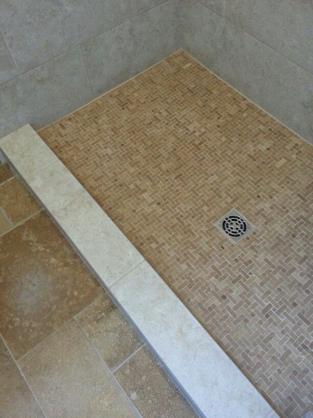 Schluter Shower Floor With Custom Curb Cap For No Bullnose