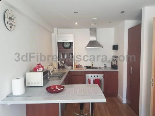 The Sharp Apartment Manchester The Sharp Apartment offers accommodation in Manchester, 700 metres from Manchester Arena and 1.1 km from Canal Street. The apartment is 1.3 km from Deansgate. Free WiFi is offered throughout the property.