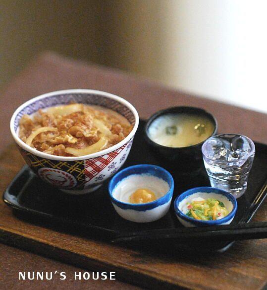 *牛丼セット* - *Nunu's HouseのミニチュアBlog* 1/12サイズのミニチュアの食べ物、雑貨などの制作blogです。