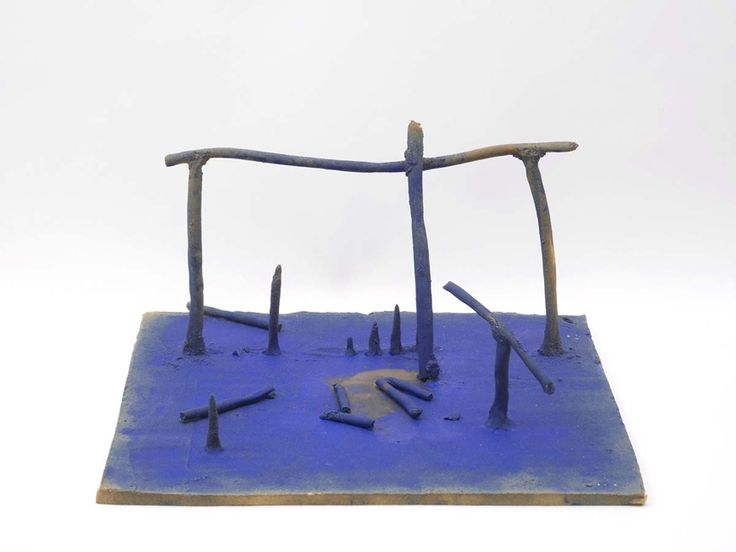 Aaron Angell, Bill Turnbull's Mobile Stabile in barium blue, 2014.