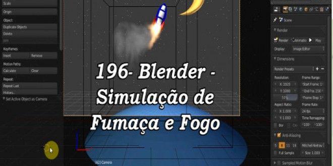 196- Blender – Simulação de fogo e fumaça – Emissor (1 de 3)