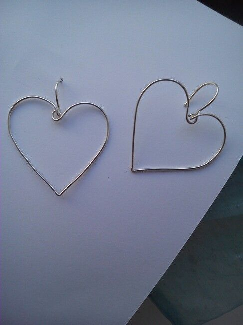 Ear ring, my new collection :)) #handmade #love #heart #jewellery