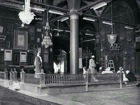 دكة اﻻغوات في المسجد النبوي