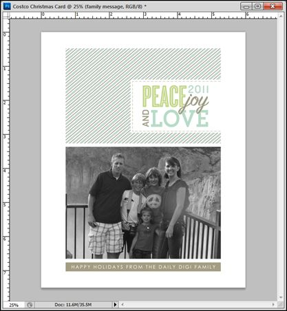 tutorial creating a custom christmas card in photoshop cs5 to print at costco