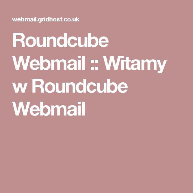 Roundcube Webmail :: Witamy w Roundcube Webmail