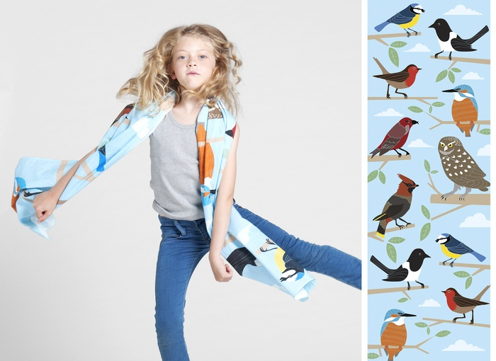 KIDULTS&CO, design by anthony petersScarf Design, Anthony Peter, Peter O'Tool, Fun Scarf, Kids Brand