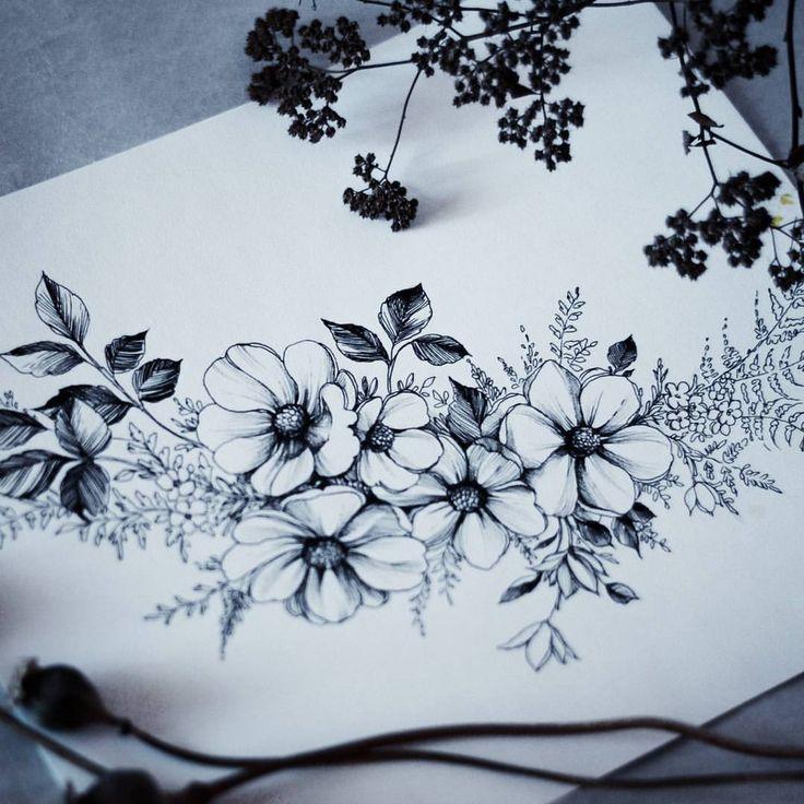 best 25 flower sketches ideas on pinterest flower