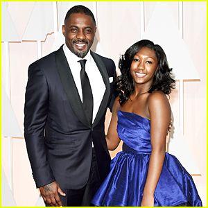 Idris Elba Lets Daughter Isan Take Spotlight at Oscars 2015