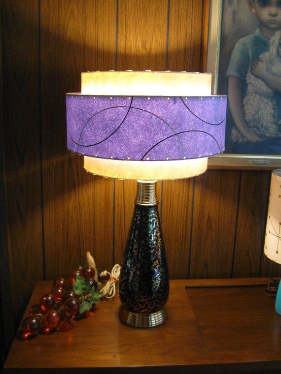 Mid Century Style 3 Tier Fiberglass Lamp Shade Retro Modern Lamp Shades Wall Lamp Shades Modern Lamp Shades