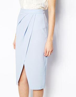 Image 3 ofASOS Drape Tulip Skirt in Crepe