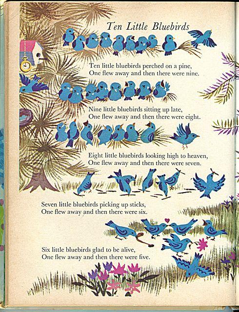 My Big Wonder Book Annual (1969), Ten Little Bluebirds