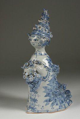 Early Bjorn Wiinblad Danish Studio Pottery Sculpture / Scandinavian-Denmark |