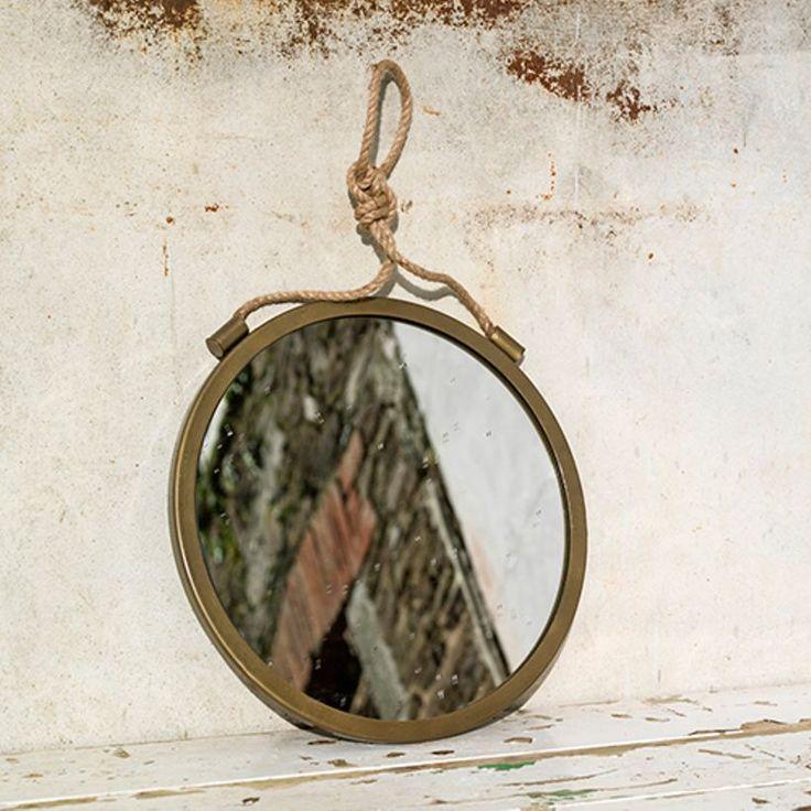 Les 25 meilleures id es de la cat gorie miroir de corde sur pinterest miroir de plage - Miroir rond avec corde ...