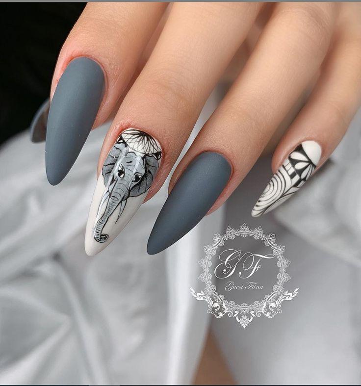 50+ attraktive Acrylnagelkunst-Designs Trends & Ideen 2019 (Sargnägel & Stiletto-Nägel) – Seite 9 von 17 – Nails Art Ideas