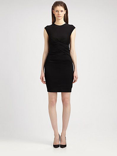 T by Alexander Wang Pique Twist Dress (comes in ivory)