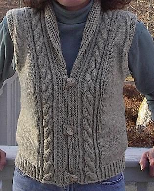 Shawl Collared Vest on Ravelry --pattern available through schoolhousepress.com