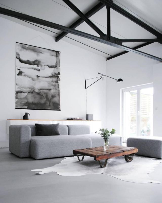 33 besten wohnen in grau bilder auf pinterest grau graue w nde und wandfarbe. Black Bedroom Furniture Sets. Home Design Ideas